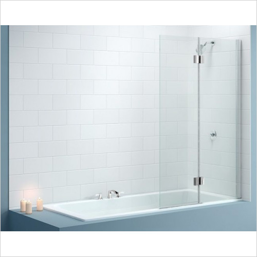 Merlyn - Vivid Bath Screen 900 x 1500mm Right Hand Door Square Hinge