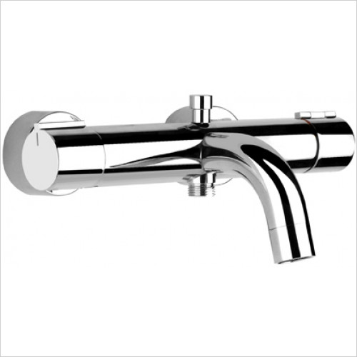 Gessi - Via Tortona Ext Bath Thermo Mixer With Bath/Shower Diverter