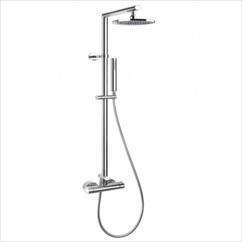 Gessi - Thermo Shower Column With Diverter 270 x 205mm Showerhead