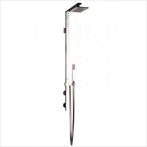 Gessi - Rettangolo Wall-Mtd Thermostatic Column 216 x 140 Showerhead