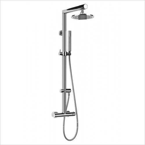 Gessi - Oxygene Wall-Mounted Thermostatic Column, Ø216mm Showerhead