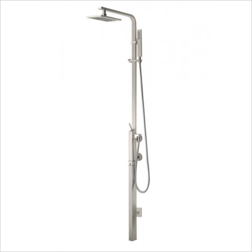 Gessi - Rettangolo Wall-Mounted Thermostatic Mixer With Showerhead