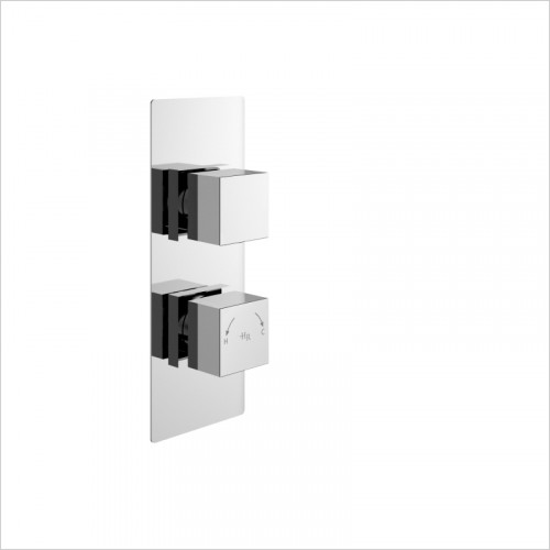 Hudson Reed - Square Twin Shower Valve With Diverter
