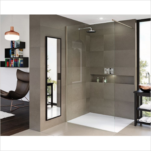 Matki One Wet Room Panel 900mm With Wall Brace