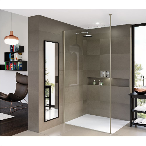 Matki One Wet Room Panel 1000mm With Ceiling Brace