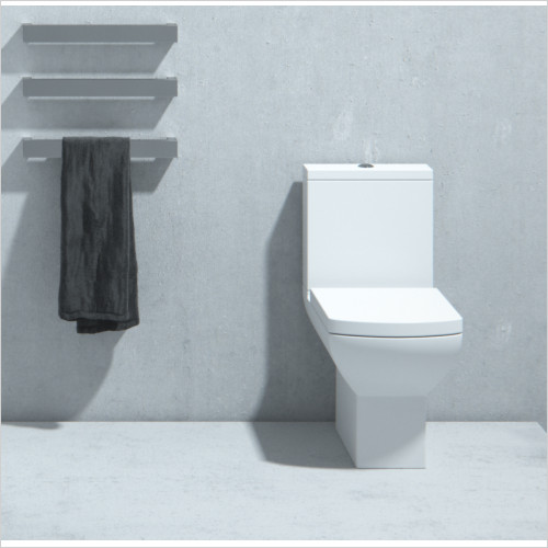 Saneux - I Line II 600 Close Coupled Rimless Toilet WC Soft Seat