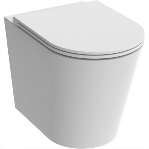 Saneux - Icon-R Round Back To Wall Pan