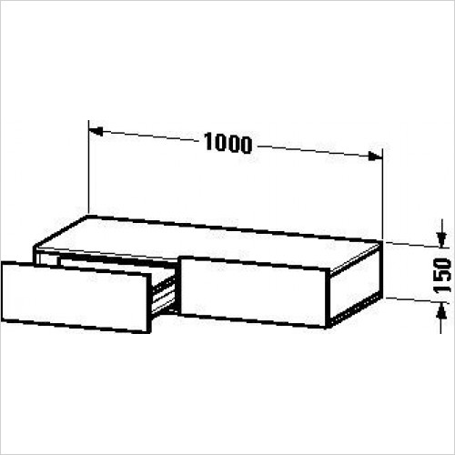 Duravit - DuraStyle Shelf With Drawer 150x1000x440mm