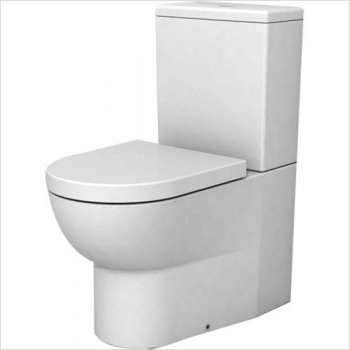 Cifial - Block Back To Wall Close Coupled WC & Soft Close Seat