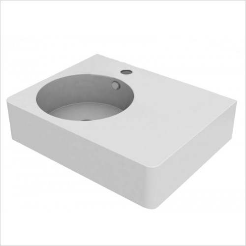 Cifial - Block Right Hand Basin 610mm 1TH
