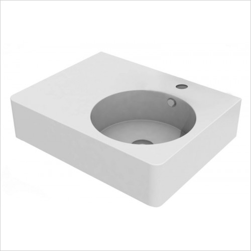 Cifial - Block Left Hand Basin 610mm 0TH