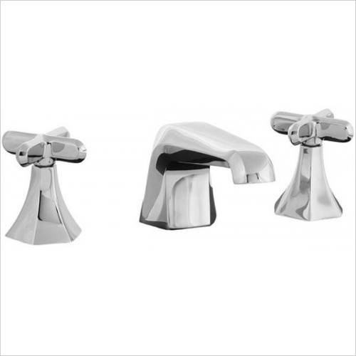 Hexa 3 Hole Low Spout Basin Mixer