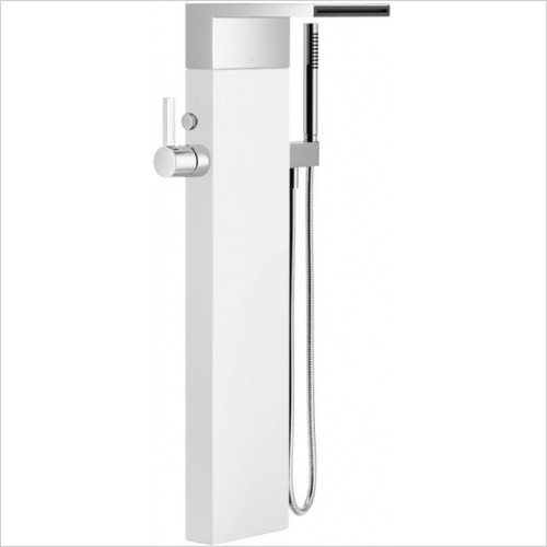 Single Lever Bath Mixer With Cascade Spout 235mm Projection