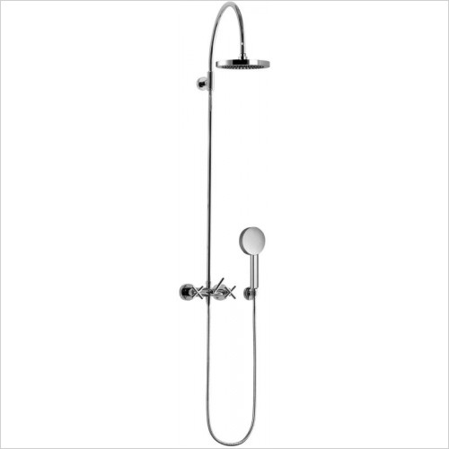 Shower Mixer For Wall Mounting With Fixed And Hand Shower
