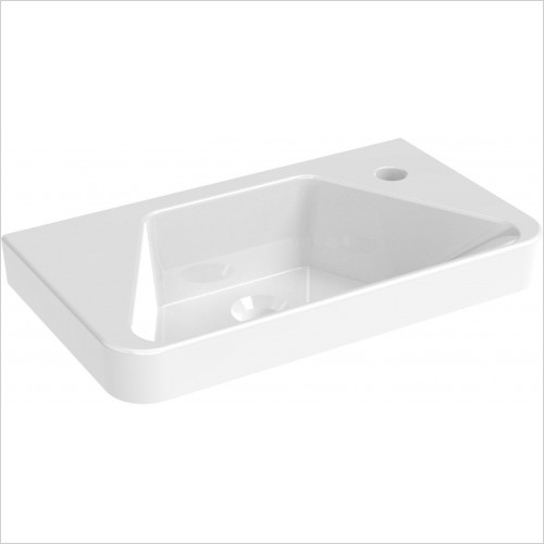 Saneux - Hyde 50 x 28cm Cloakroom Washbasin Right TH