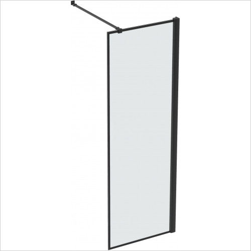 Walkin MBX 8mm Walk-In Front/Side Panel Inc Telescopic Bar