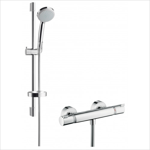 Hansgrohe - Croma Ecostat Comfort Exposed Shower Thermostatic Mixer Valv
